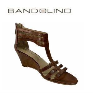 Bandolino Brown Wedge Sandal